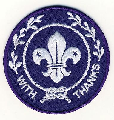 World Scout With Thanks Badge Pack of 10