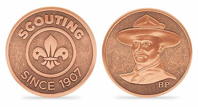 Scout Heritage BP Bronze Finished Coin