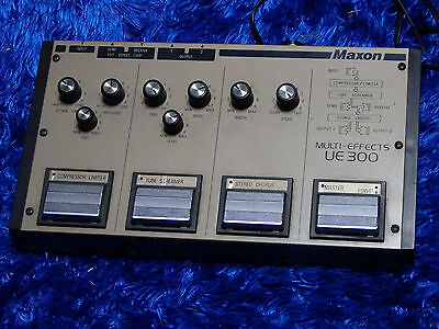 Maxon UE-300 ue300 MultiEffects Guitar Pedal Overdrive Compressor Chorus