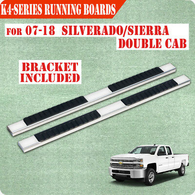 """07-17 Chevrolet Silverado double/Extended Cab 4"""" Nerf Bar Running Board Step"""