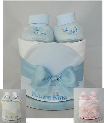 Baby Boy/Girl Nappy Cake. Maternity Baby Shower Gift. Contains Branded Nappies.