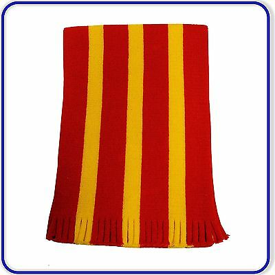 """New Good Quality Cheap  Red and Gold 54"""" Warp Knitted Scarf"""