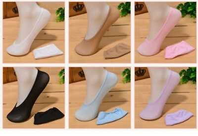 LADIES / GIRLS INVISIBLE SOCKS TRAINER SHOE LINERS Cotton Rich One Size 4-7
