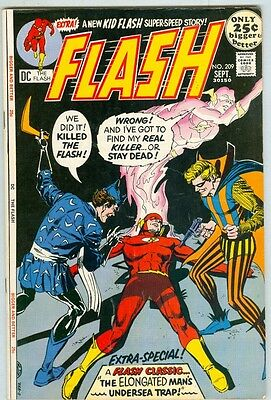 Flash #209 September 1971 FN- 52 Page Giant