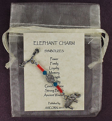 ELEPHANT TOTEM CHARM Amulet Talisman Animal Magick Symbol Good Fortune Loyalty