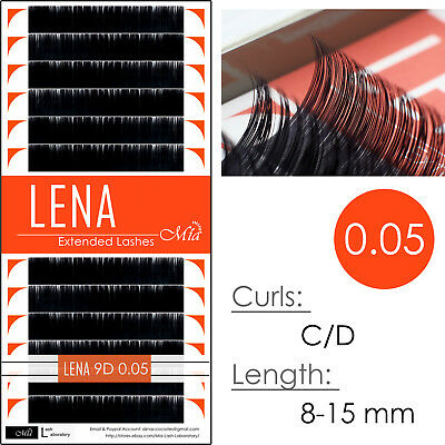 LENA Black Pearl 0.05 Faux Mink Individual Eyelash Extensions with Matte Finish
