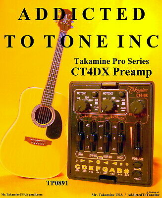 Takamine Pro Series CT4 DX Acoustic Guitar Dual Parametric Preamp CTP 2 CTP 3