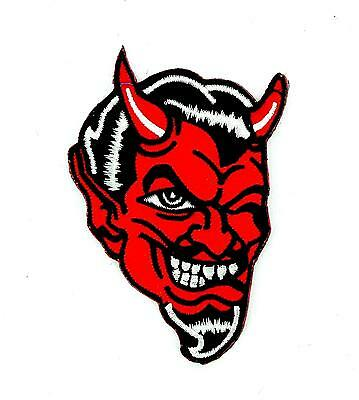 Patch ecusson brode thermocollant motard biker diable 666 satan satanique