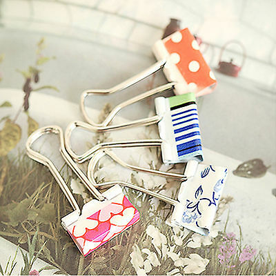 12X Flower Office Impressions Metal Binder Clips 19mm Width File Paper Organizer