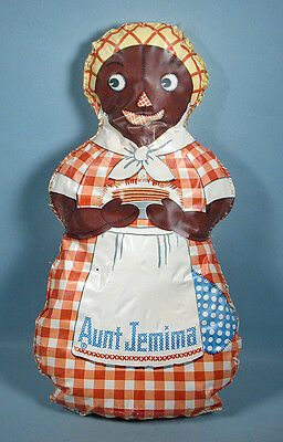 1950s Aunt Jemima Oilcloth-like Mammy Doll Stitched Toy Pancake Mail Premium