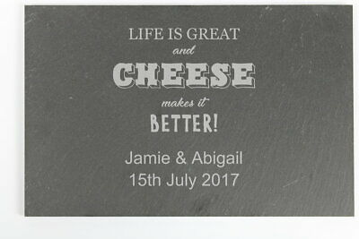 Personalised Cheese Makes Life Better... Slate Cheeseboard - Free Delivery