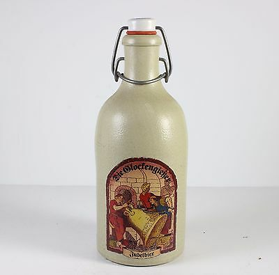 German Stoneware Beer Bottle W/porcelain Stopper * Jubelbier