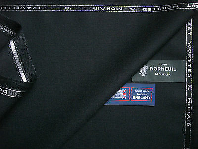 DORMEUIL 90%WOOL WORSTED &10% MOHAIR SUITING FABRIC  TRAVELLER  By Dormeuil 3.4m