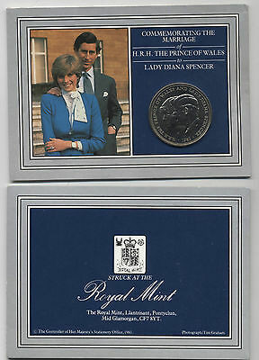 1981 H.R.H.The Prince Of Wales & Lady Diana Spencer Commemorative Crown