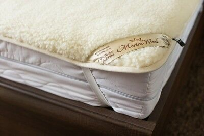 QUALITY MERINO PURE WOOL UNDER BLANKET 100% NATURAL ,Mattress Topper WOOLMARKED