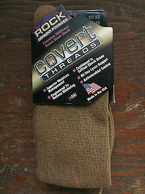 COVERT THREADS coyote MILITARY BOOT SOCK rock ground pounder 13-15 XL sock 2910