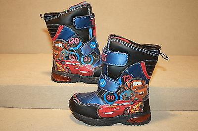 SEE LISTING FOR SIZE INFANT//TODDLER BOYS DISNEY//PIXAR CARS 2 SNOW BOOTS 1118