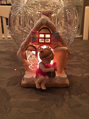 Home Sweet Home Fairie - Gingerbread House Lights Up