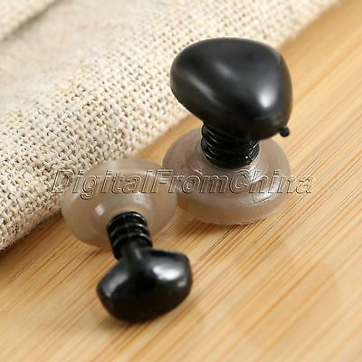 50X 10mm Animal Doll Safety Noses Without Backs for Teddy Bear Animal Toy Doll