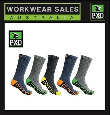 FXD Socks 5 pack Mens SK-1  2 Packs  2 x total 10 pairs