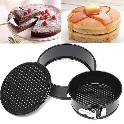 """7"""" inch Non-stick Coated Round Loose Base Bottom Buckle Cake Pan Tray Bakeware"""