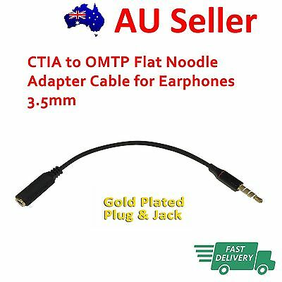 CTIA to OMTP Flat Noodle Adapter Cable for Earphones 3.5mm
