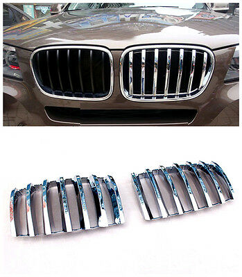 FOR BMW X5 E70 2008 - 2013 ABS Chrome Car Front Center Grille Grill Frame Cover