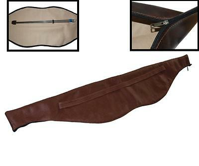 148cm Leather Archery Bow Carry Bag Case Quiver Pouch For Recurve Bow Longbow