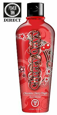 Power Tan Cherry Onyx HOT Tanning Sunbed Lotion Cream Accelerator Bronzer 250ml
