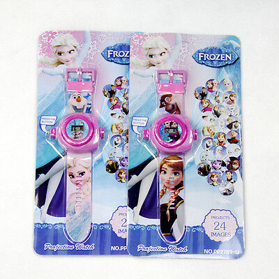 Frozen Electronic Digital Wrist Watch Project 24 Image Elsa Anna Girl Pink