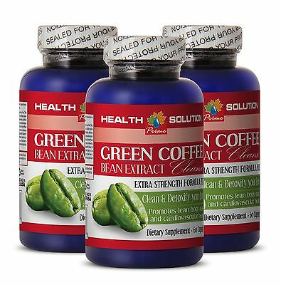 GREEN COFFE BEAN EXTRACT CLEANSE - Fat Burner Pills - Green Coffee Beans 3 Bot