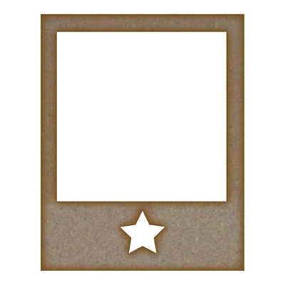 Retro Photo Frame - Star MDF Laser Cut Craft Blanks in Various Sizes