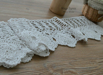 Vintage braid old yellow white 60s Festoon cotton crochet lace Puy trimmings 25mm wide sixties