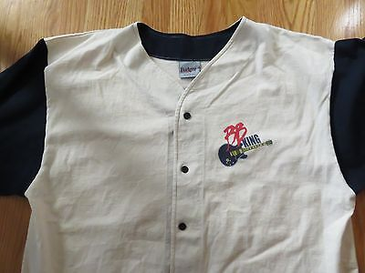 1998 Crew B.B. KING of the Blues Button-Down (XL) Short Sleeve Baseball Jersey