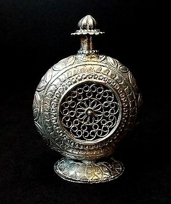 Antique, Possibly Indian, Silver (Tested) Open Wirework Pomander