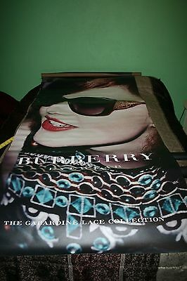 BURBERRY Sunglasses Flowers Gabardine lace collection LARGE Display Banner AD