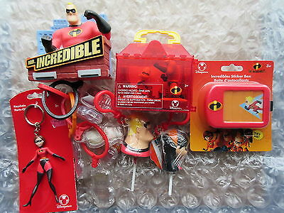 Walt Disney Store The Incredibles Toys Candy Key Chains Etc