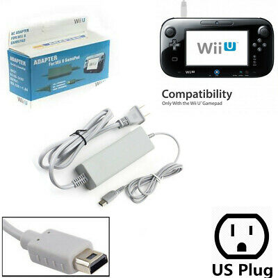 AC Adapter Charger Power Supply Charging Cable Cord for Nintendo Wii U Gamepad