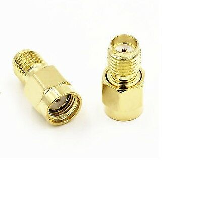 Premium RP SMA Male Plug to SMA Female Jack Straight RF Coax Adapter Connector