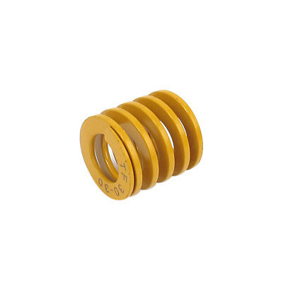 30mm OD 30mm Long Lightest Load Spiral Stamping Compression Die Spring Yellow