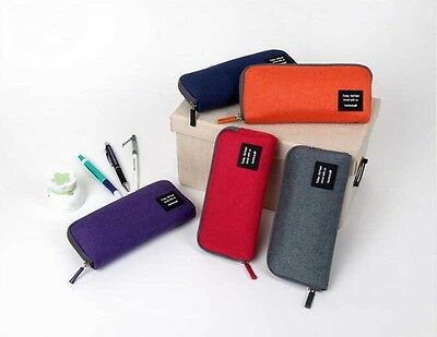 School Student Stationery Canvas Pen Bag Pencil Case Cosmetic Travel Makeup