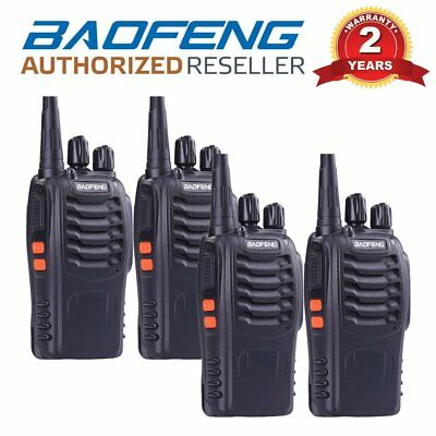 4 x Baofeng BF-888S UHF 400-470 MHz Two Way FM Radio Walkie Talkie + Earpiece UK
