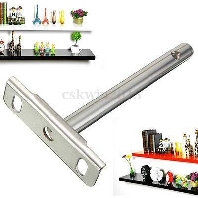 1/4/8PCS Steel Round Rod Concealed Floating Shelf Support Brackets Install Set