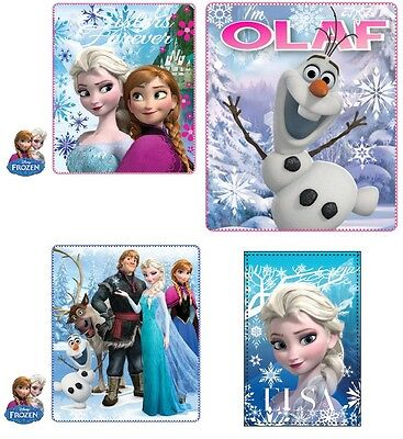 Disney Frozen Fleece Blanket Cover Anna Elsa Olaf 120X140 Free First Class P&p