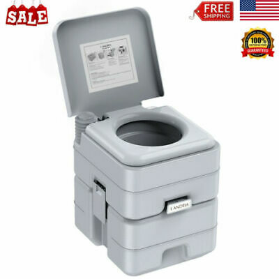 5.3 Gallon 20L Portable Outdoor Toilet 50 Flush Travel Camping Commode Potty NEW
