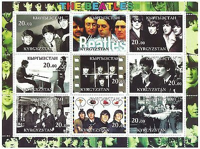 Kyrgyzstan Stamps 2001 The Beatles music band 9 values / MNH