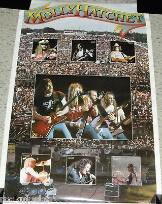 MOLLY HATCHET1980 FULL SIZE Poster (ORIGINAL NOT A REMAKE Vintage Music Rock 80s