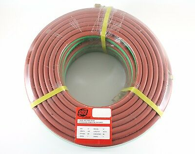"100 FEET Grade T 1/4"" OxyFuel Welding & Cutting Twin Hose with BB Fittings SÜA"