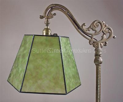 Mission Arts & Crafts Mica Bridge Floor Lamp Shade Green Tailor Made Lampshades