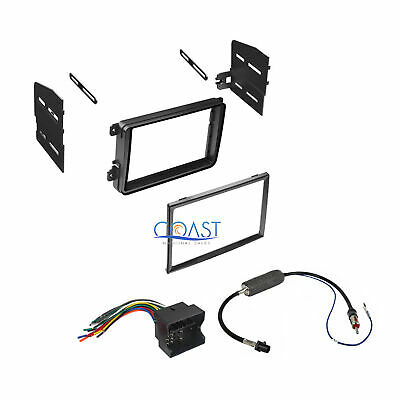 Single Double DIN Car Stereo Dash Kit Harness Antenna for 2005-2015 Volkswagon